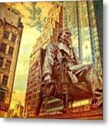 Ben In New York City Metal Print