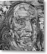 Ben In Wood B W Metal Print