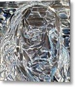 Ben In Wood Negative Art Metal Print