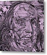 Ben In Wood Pink Metal Print