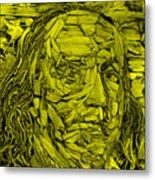 Ben In Wood Yellow Metal Print