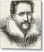 Ben Jonson 1572 To 1637. English Metal Print