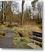 Bench In Polkemmet Park. Metal Print