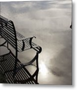 Bench In The Clouds Metal Print