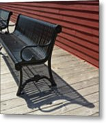 Bench Lines And Shadows 0841 Metal Print