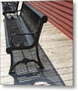 Bench Lines And Shadows 0862 Metal Print
