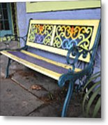 Bench Of Color Metal Print