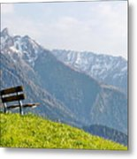 Bench Metal Print by Rolfo Eclaire