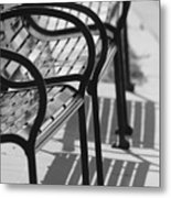 Bench Shadows Metal Print