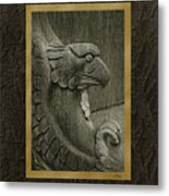 Benched Eagle Metal Print