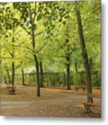 Benches In Wurzburg Metal Print