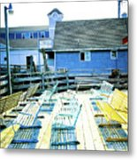 Benches On Boothbay Metal Print