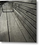 Bench's Perspective Metal Print by Joanna Madloch