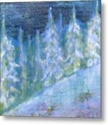 Bend Snow Trees Metal Print