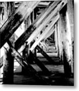 Beneath The Docks Night Metal Print