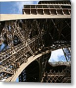 Beneath The Eiffel Tower Metal Print