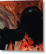 Beneath The Fire - Red And Black Painting Art Metal Print