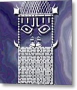 Benin Warrior King Metal Print