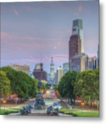 Benjamin Franklin Parkway City Hall Metal Print