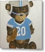 Benny Bear Football Metal Print