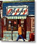 Bens Barbershop Metal Print