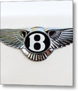 Bentley Emblem -0081c Metal Print