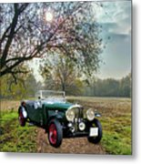 Bentley On A Country Road Metal Print