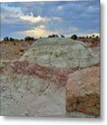 Bentonite Dunes Along Little Park Road Metal Print