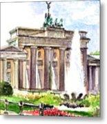 Berlin Brandenburg Gate Metal Print