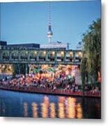 Berlin - Capital Beach Bar Metal Print