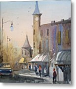 Berlin Clock Tower Metal Print
