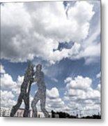 Berlin Molecule Men Spree Metal Print