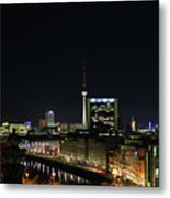 Berlin Night Landscape Metal Print