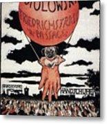 Berlin Potolowsky - Friedrichstrass Passage - Germany - Retro Travel Poster - Vintage Poster Metal Print
