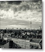 Berlin Skyline And Roofscape -black And White Metal Print