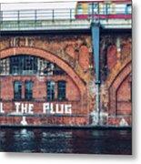 Berlin Street Art - Pull The Plug Metal Print
