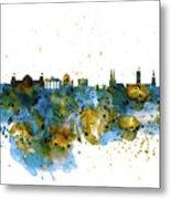 Berlin Watercolor Skyline Metal Print