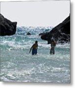 Bermuda Splash Metal Print