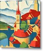 Berne Switzerland - Folded Metal Print