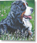 Bernese Mountain Dog In Wildflowers Metal Print