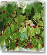 Berries And Leaves 51 Metal Print