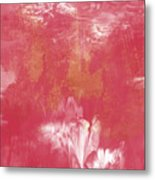 Berry And Gold- Abstract Art By Linda Woods Metal Print