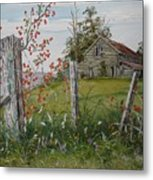 Berry Barn Metal Print