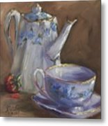 Berry Blue Metal Print