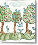 Berry Picking Metal Print