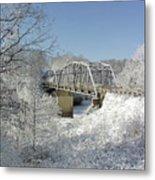 Bert White Bridge Metal Print