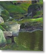 Beside Cool Waters Metal Print