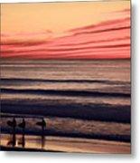 Beside Still Waters - Digital Paint Effect Metal Print