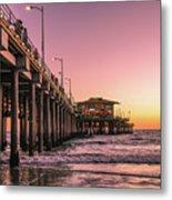 Beside The Pier By Mike-hope Metal Print