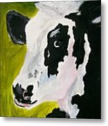 Bessy The Cow Metal Print by Leo Gordon